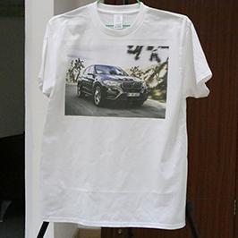 Λευκό δείγμα εκτύπωσης t-shirt από εκτυπωτή A3 T-shirt WER-E2000T 2